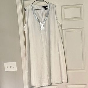 Ashley Stewart - White Linen Dress
